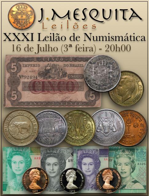 XXXI Leilão J.Mesquita -  Especial de Numismática