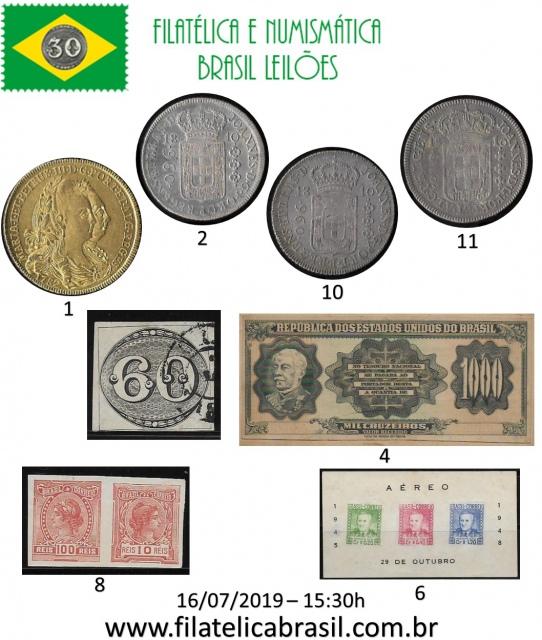 XXVII LEILÃO DE COLECIONISMO FILATÉLICA E NUMISMÁTICA BRASIL