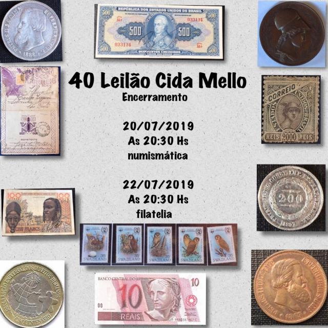 40º LEILÃO CIDA MELLO NUMISMÁTICA E FILATELIA