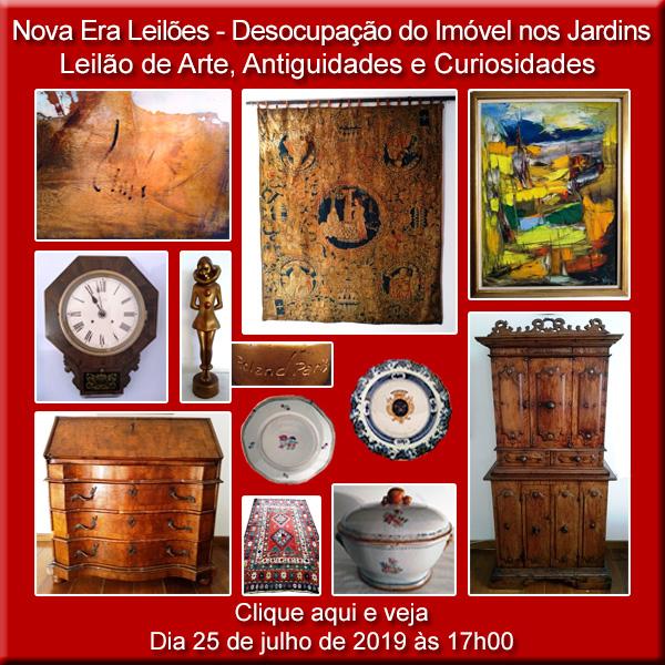 Nova Era Leilões - Desocupação do imóvel no Itaim Bibi - Leilão de Arte - 25/07/2019