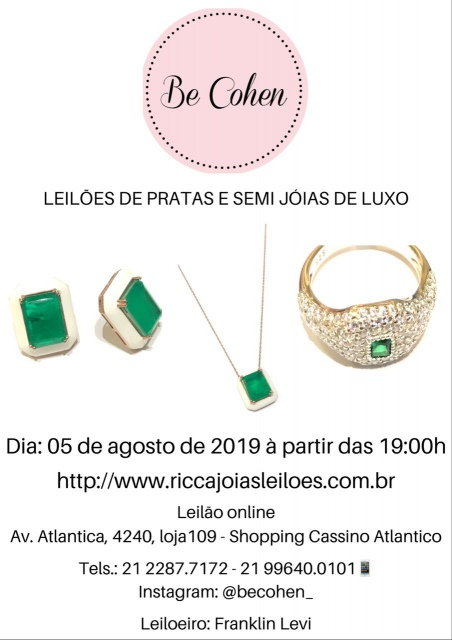 LEILÃO BE COHEN SEMI JOIA DE LUXO