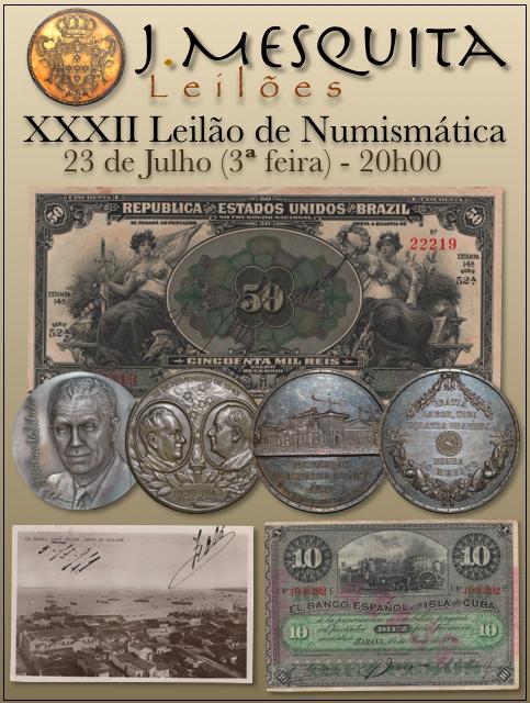 XXXII Leilão J.Mesquita -  Especial de Numismática
