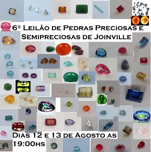 6º Leilão de Pedras Preciosas e Semipreciosas de Joinville
