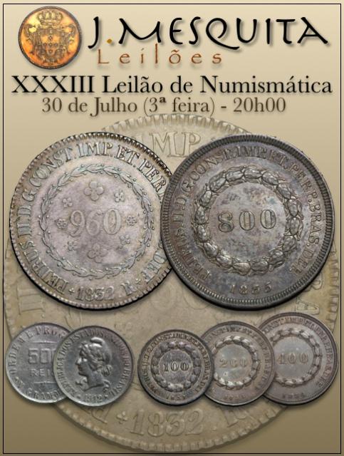 XXXIII Leilão J.Mesquita -  Especial de Numismática