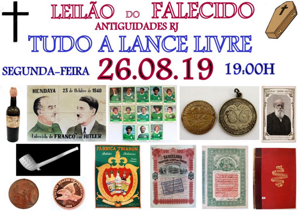 LEILÃO DO FALECIDO ANTIGUIDADES RJ