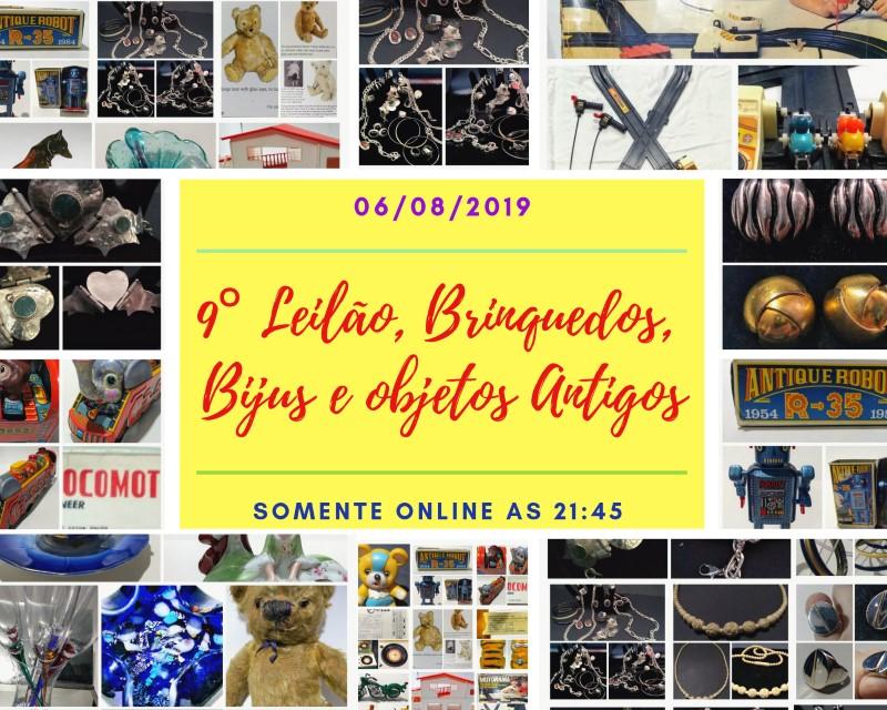 9  Leilão , Brinquedos , Bijuterias , objetos antigos
