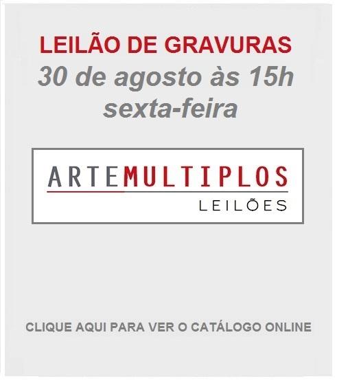 LEILÃO DE GRAVURAS - 30 de AGOSTO de 2019 às 15h