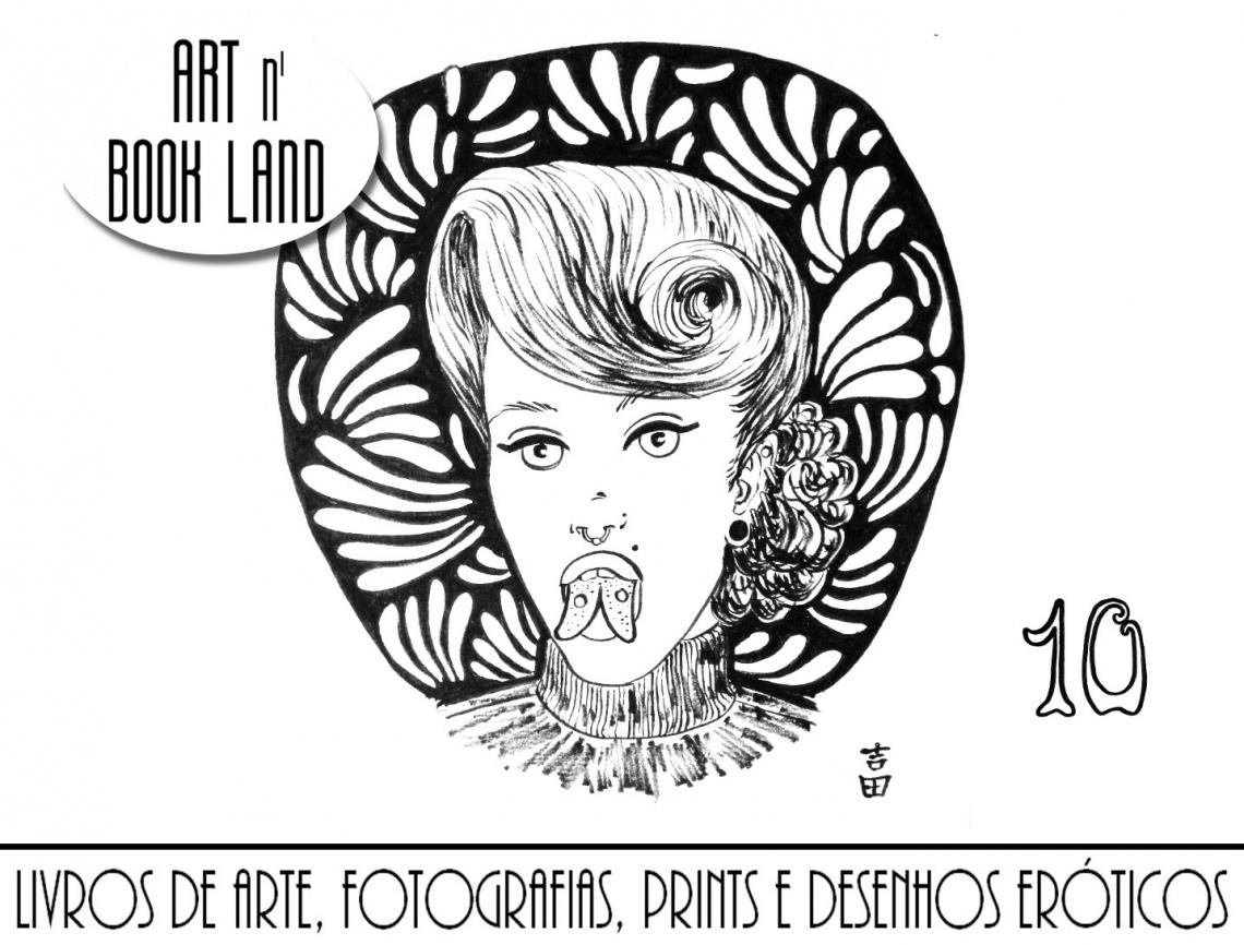 Art n Book Land 10 - leilão residencial - livros de arte, fotografias, prints e desenhos eróticos