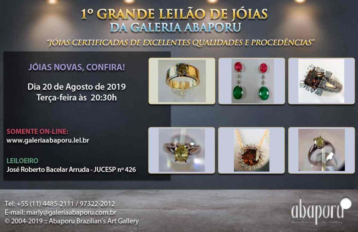 1º LEILÃO DE JOIAS - GALERIA ABAPORU