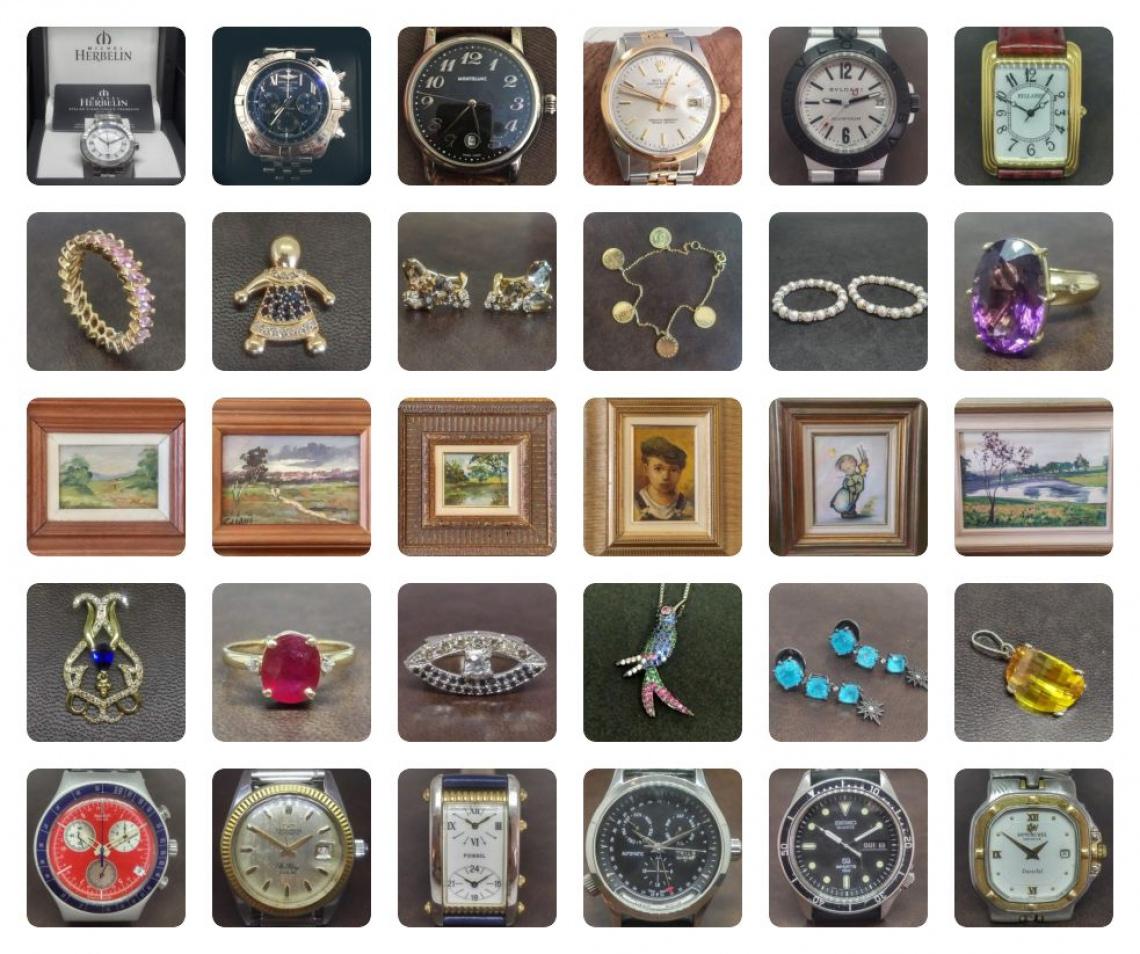 5º Leilão de Relógios, Jóias e Artes