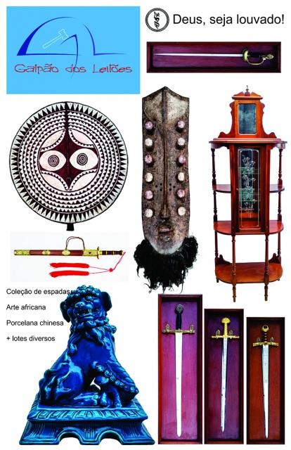 LEILÃO DE ARTE (destaque p/ tribal africana), Coleção de Canetas, CURIOSIDADES e DECORAÇÃO. 24 e 26/