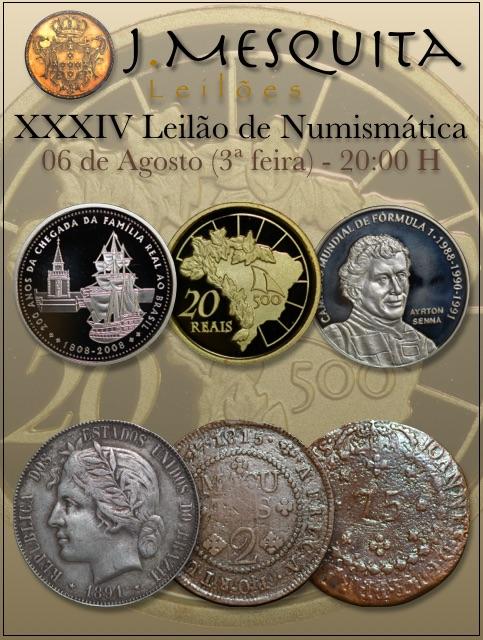 XXXIV Leilão J.Mesquita -  Especial de Numismática