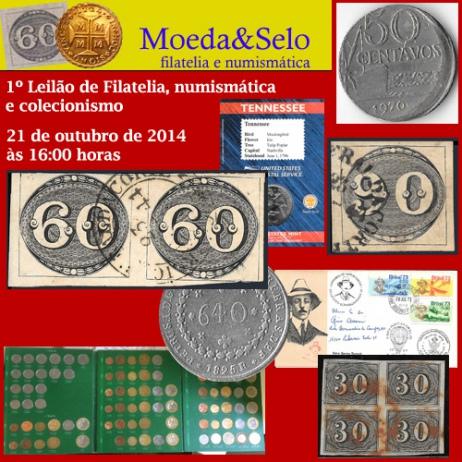 1º Leilão de Filatelia, Numismática e Colecionismo da Moeda&Selo