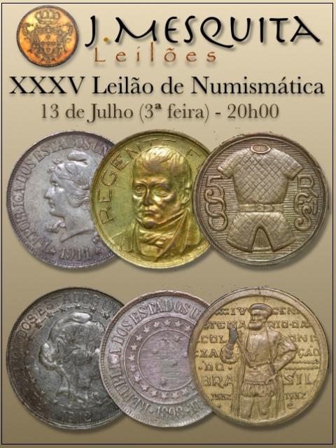 XXXV Leilão J.Mesquita -  Especial de Numismática