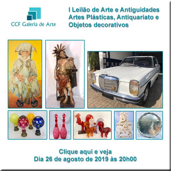 I Leilão CCF - Galeria de Arte - 26/08/2019 - 20h00