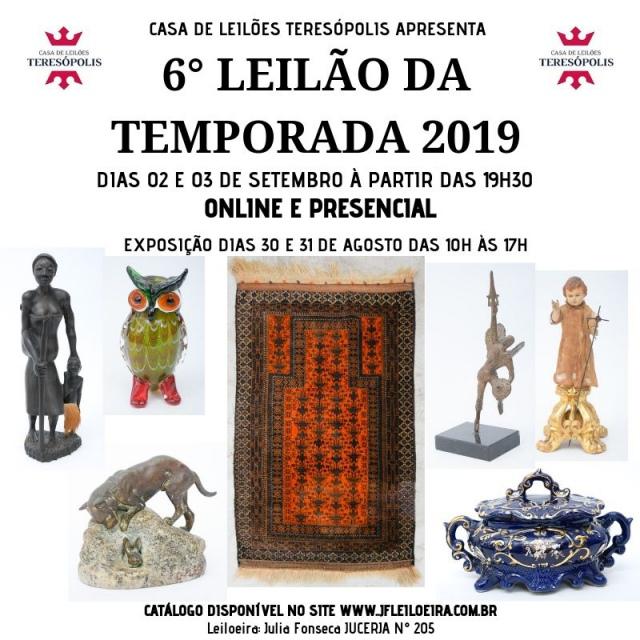 6º Grande Leilão da Temporada 2019 - Casa de Leilões Teresópolis