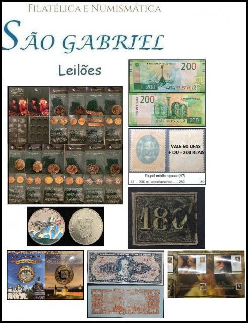 50º LEILÃO SÃO GABRIEL DE SELOS - MOEDAS E CEDULAS  UM SHOW DE COLECIONISMO!