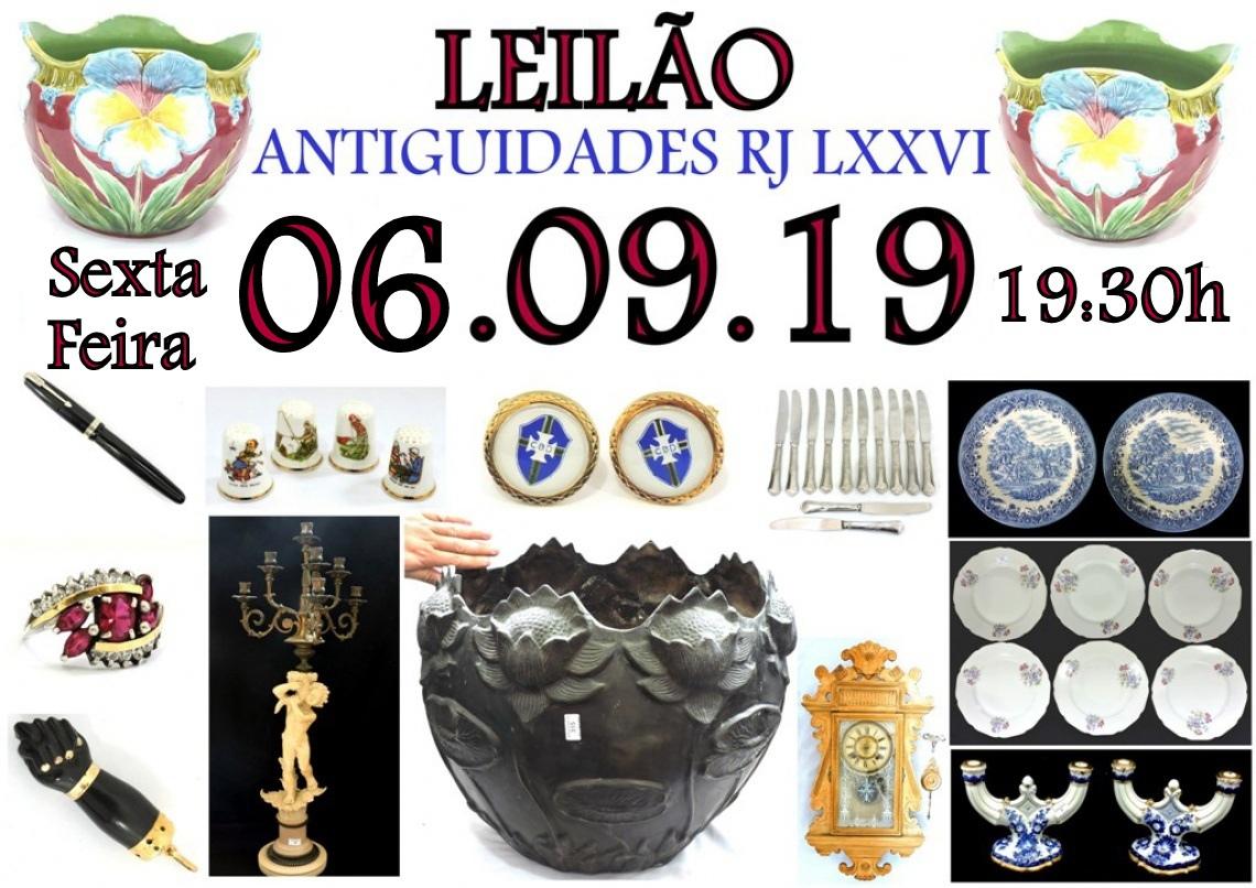 LEILÃO ANTIGUIDADES RJ LXXVI