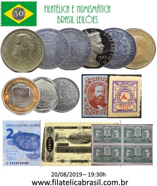 XXXII LEILÃO DE COLECIONISMO FILATÉLICA E NUMISMÁTICA BRASIL