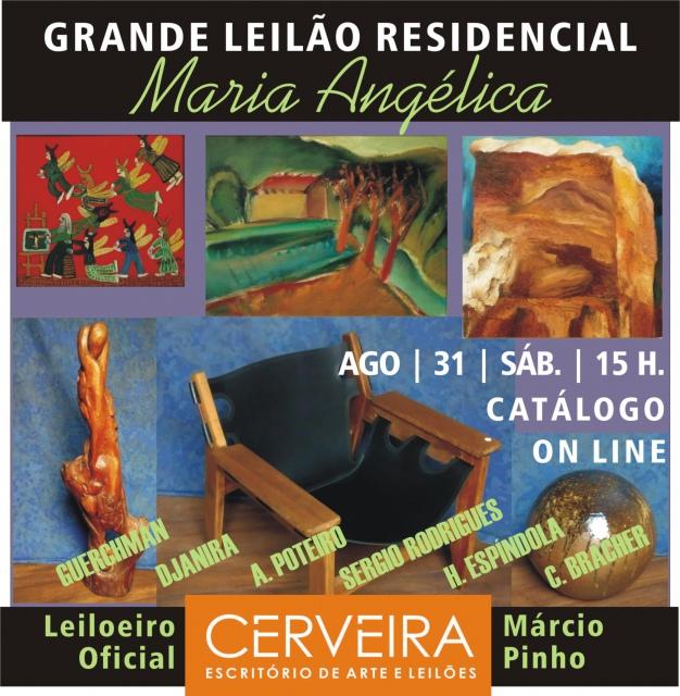 GRANDE LEILÃO RESIDENCIAL RUA MARIA ANGÉLICA - PINTURAS | GRAVURAS | DESIGN | ANTIGUIDADES