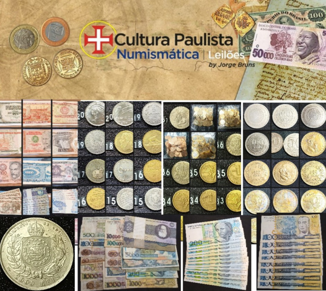 1º LEILÃO CULTURA PAULISTA DE NUMISMÁTICA