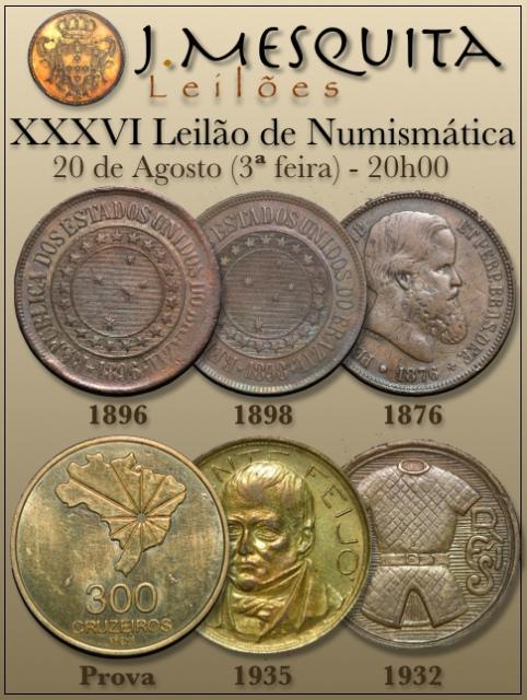 XXXVI Leilão J.Mesquita -  Especial de Numismática
