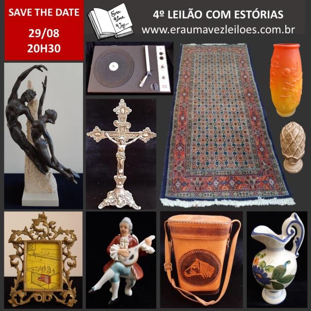 4º LEILÃO COM ESTÓRIAS - 29/08/2019 - 20H30