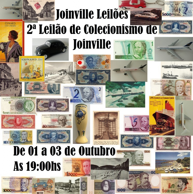 7ª Leilão de Pedras Preciosas com 1ª Leilão de Colecionismo de Joinville
