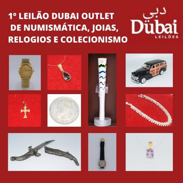 1º LEILÃO DUBAI OUTLET DE NUMISMÁTICA, JOIAS, RELÓGIOS E COLECIONISMO