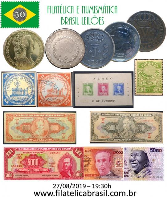 XXXIII LEILÃO DE COLECIONISMO FILATÉLICA E NUMISMÁTICA BRASIL