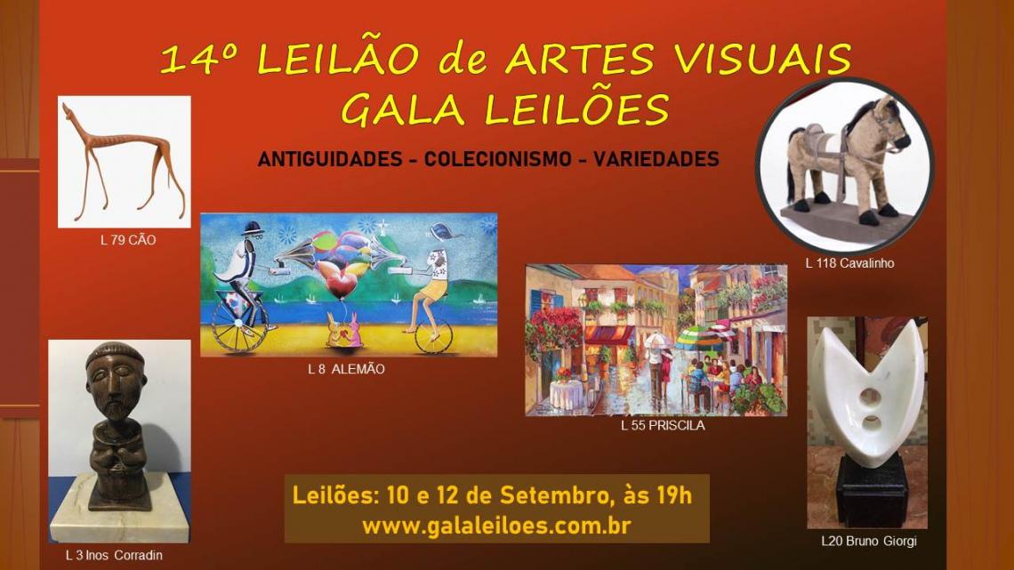 14º LEILÃO DE ARTES VISUAIS - ANTIGUIDADES, COLECIONISMO E VARIEDADES