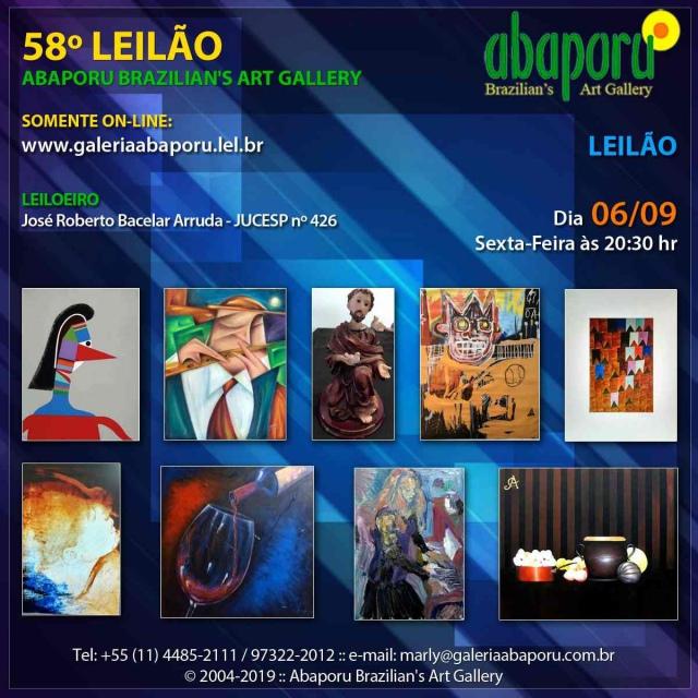 58º LEILÃO DA ABAPORU BRAZILIANS ART GALLERY