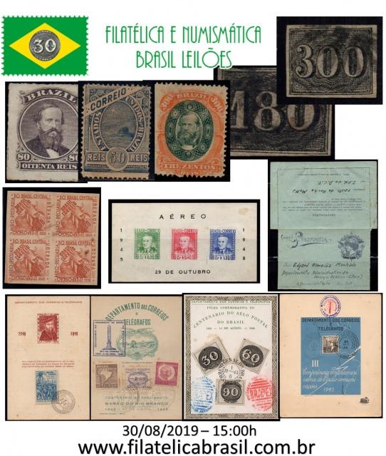 XXXIV LEILÃO DE COLECIONISMO FILATÉLICA E NUMISMÁTICA BRASIL