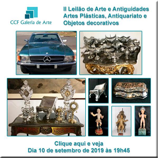 II Leilão CCF Galeria de Arte - 10/09/2019 - 19h45