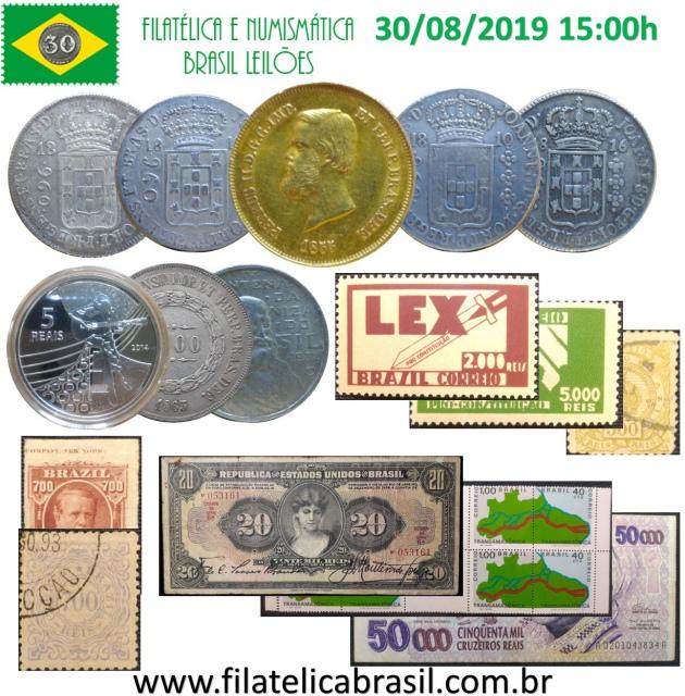 XXXV LEILÃO DE COLECIONISMO FILATÉLICA E NUMISMÁTICA BRASIL