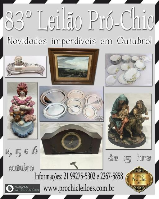 83º  Leilao Pro Chic - Novidades imperdiveis em outubro !