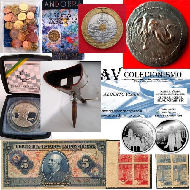 22º Leilão de Filatelia - Numismática -  AV COLECIONISMO