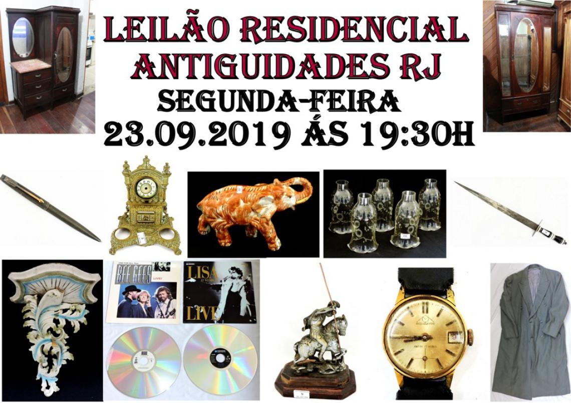 LEILÃO RESIDENCIAL ANTIGUIDADES RJ