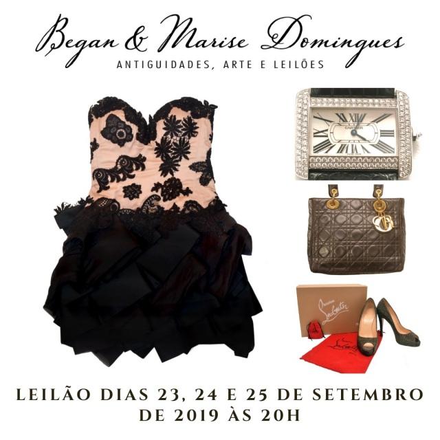 LEILÃO MODA - Hermes, Chanel, Louis Vuitton, Gucci, Cartier, Louboutin, Burberry, Dior, Bulgari.
