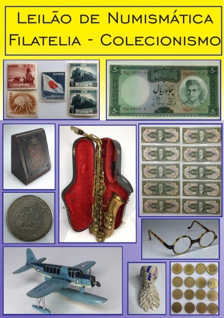 Leilão de Numismática - Filatelia - Colecionismo