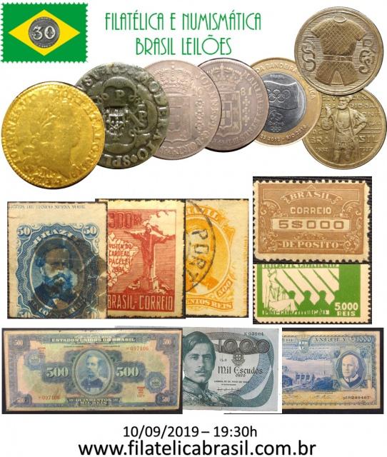 XXXVI LEILÃO DE COLECIONISMO FILATÉLICA E NUMISMÁTICA BRASIL