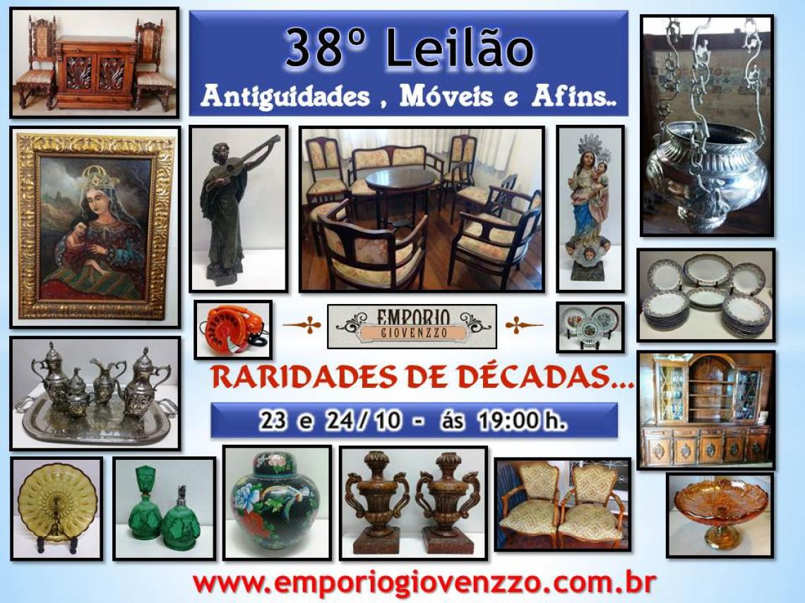 38º LEILÃO DE TUDO UM POUCO - ARTES, , MÓVEIS E ANTIGUIDADES  MG