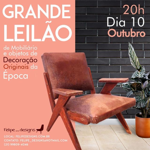FELIPE DESIGNS LEILÃO DE ARTES E ANTIGUIDADES