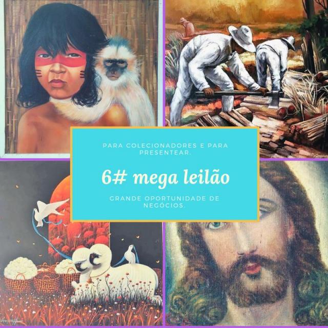 6# MEGA LEILÃO. ARTISTAS EXCLUSIVOS. STREET ART E CONTEMPORÂNEO.