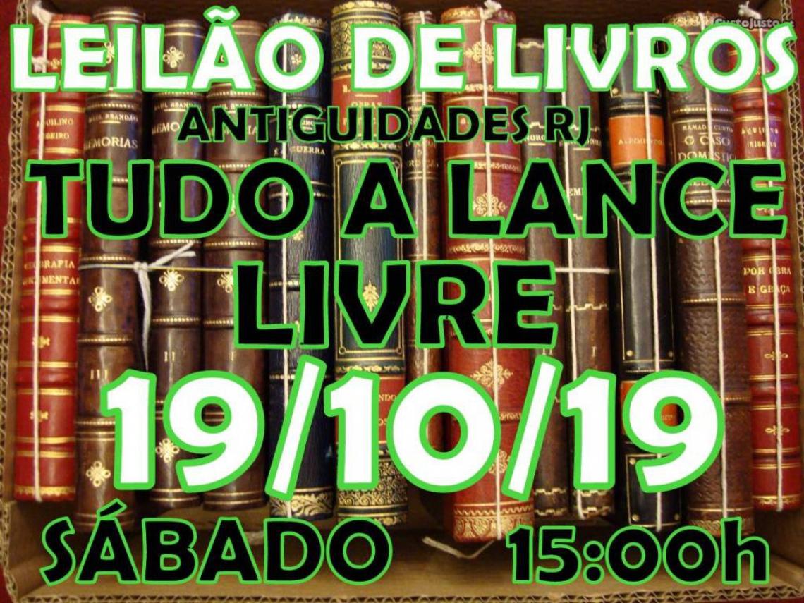 LEILÃO DE LIVROS ANTIGUIDADES RJ