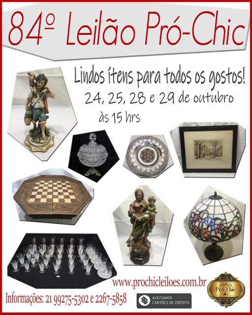 84º  LEILÃO PRO CHIC.-. Lindos itens para todos os gostos!!