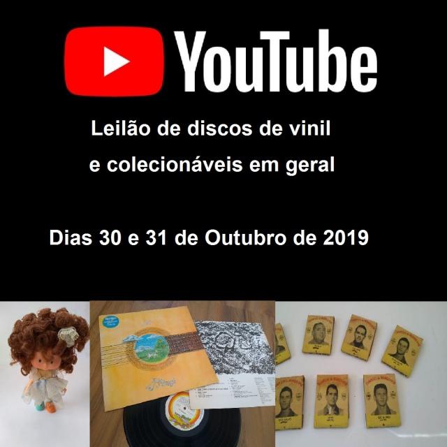 LEILÃO DE DISCOS DE VINIL E COLECIONÁVEIS EM GERAL