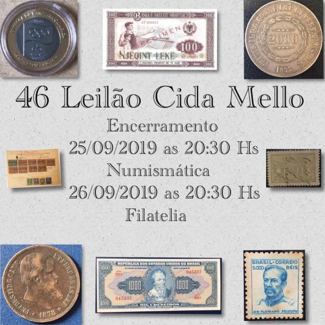 46º LEILÃO CIDA MELLO NUMISMÁTICA E FILATELIA
