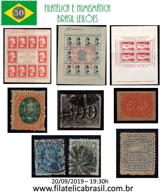 XXXVIII LEILÃO DE COLECIONISMO FILATÉLICA E NUMISMÁTICA BRASIL