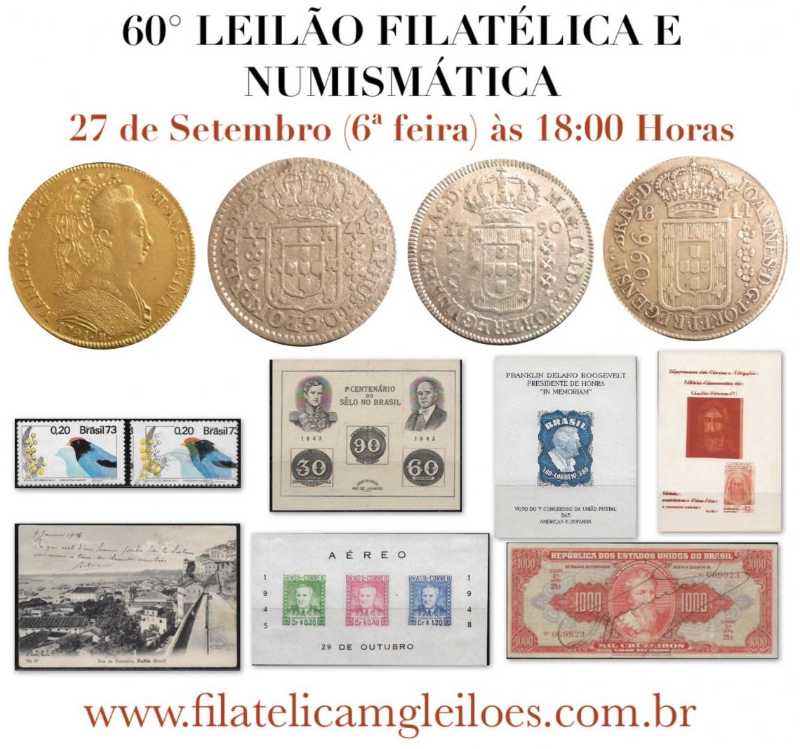 59º Leilão de Filatelia e Numismática